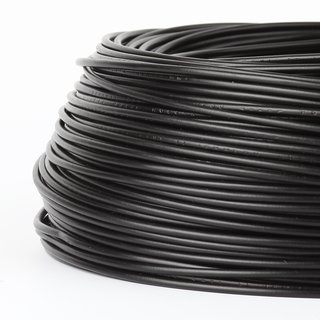 100 Meter PVC Aderleitung 1x1,5 mm² H07V-K schwarz (NYA-F)  flexibel