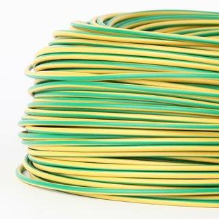 100 Meter PVC Aderleitung 1x1,5 mm² H07V-K grün-gelb (NYA-F)  flexibel