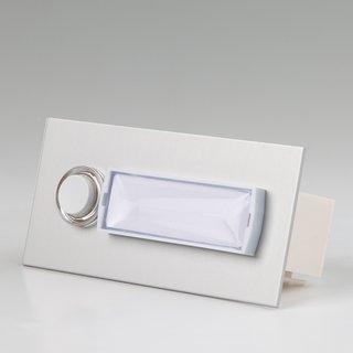 Klingeltaster Klingelplatte 1-fach Aluminium silber eloxiert für UP-Montage 101/1