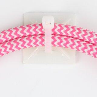 100 x Kabelhalter Klebesockel natur für Kabelbinder bis 4 mm