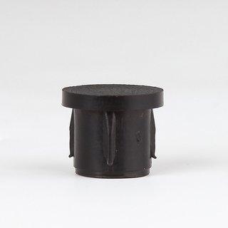 5 x Abschluss-Stopfen schwarz Rohr 10 mm außen