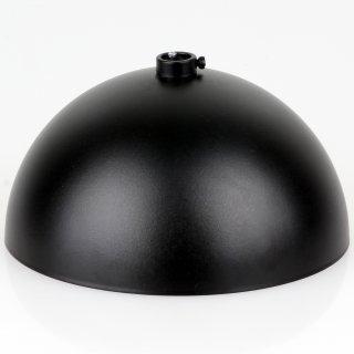 Lampen Baldachin 120x62mm Metall schwarz Kugelform mit 10mm Stellring