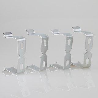 Tischsteckdosen Metall Halteklammer-Set 4 Stück Breite ab 45 mm