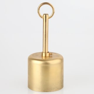 Lampen Baldachin 62x63mm Metall Messing roh Zylinderform mit Stellring und 10mm Pendelrohr