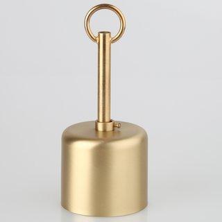 Lampen Baldachin 62x63mm Metall Messing matt Zylinderform mit Stellring und 10mm Pendelrohr