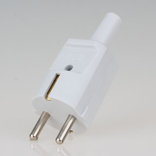 Schutzkontakt-Stecker grau 250V/16A mit Knickschutztuelle schlagfestes Thermoplast