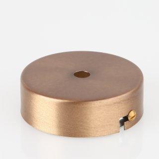 Lampen Metall Baldachin 80x25mm antik fume für 1 Lampenpendel ohne Zugentlaster