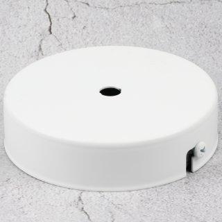 Lampen Metall Baldachin 100x25mm weiß für 1 Lampenpendel ohne Zugentlaster