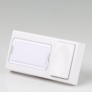 Bittorf Klingeltaster Anläuteplatte 1-fach weiß