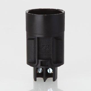 E14 Kunststoff Fassung schwarz  für Kronleuchter / Lüster ohne Halter