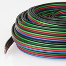 10 Meter Niedervoltkabel Vierlingslitze 4x0,25 mm²  für RGB LED Streifen