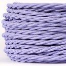 Textilkabel lila 3 adrig 3x0,75 gedreht doppelt isoliert