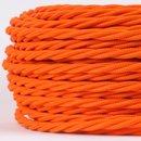 Textilkabel orange 3 adrig 3x0,75 gedreht doppelt isoliert