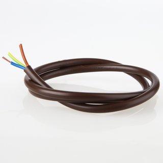 PVC Lampenkabel Rundkabel braun 3-adrig, 3x0,75mm² H03 VV-F