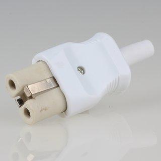 Keramik Gerätestecker für alte Toaster Bügeleisen Waffeleisen weiss 10A/250V