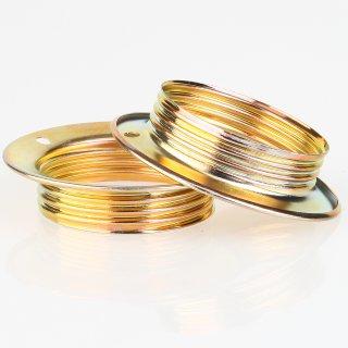 E27 Unterring Schraubring Metall vermessingt 56x13 mm für Metallfassung