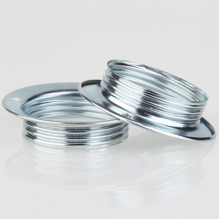 E27 Unterring Schraubring Metall verchromt 56x13 mm für Metallfassung