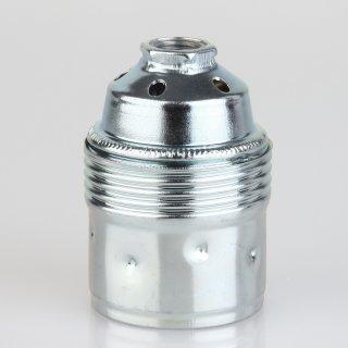 E27 Premium Metallfassung verchromt ohne Außengewinde M10x1 IG 250V/4A
