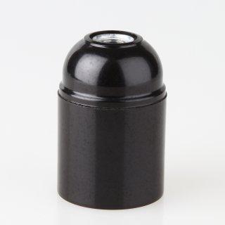 E27 Kunststoff Fassung schwarz ohne Außengewinde M10x1 IG 250V/4A