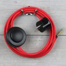Textilkabel Anschlussleitung 2-5m rot mit...