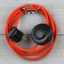 Textilkabel Anschlussleitung 2-5m orange mit...