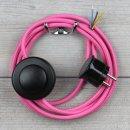 Textilkabel Anschlussleitung 2-5m pink mit...