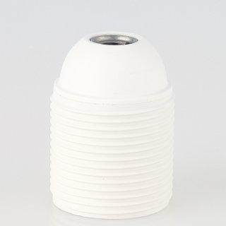 E27 Kunststoff Fassung weiss mit Außengewinde M10x1 IG 250V/4A Thermoplast