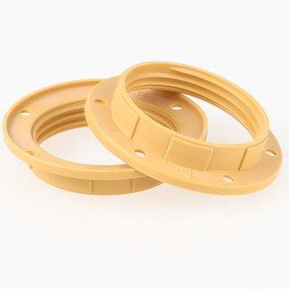 E27 2x Unterring Schraubring Kunststoff gold 57x12mm für Kunststoff Fassung