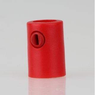 Zugentlaster Kunststoff rot mit M10x1 Innengewinde