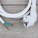 3,0m Anschlussleitung weiß 3x1,5mm² mit...