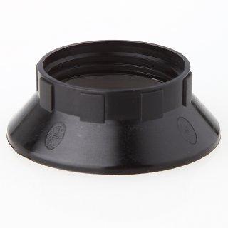 E14 Unterring Schraubring Thermoplast schwarz 43x15mm für Kunststoff Fassung