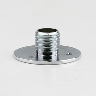 Wandnippel Scheibennippel Aufbauscheibe Metall verchromt M10x1 Aussengewinde 26x10mm