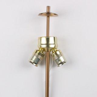 Lampen Aptierung mit E27 Doppelfassung und Zugschalter  Antik fume