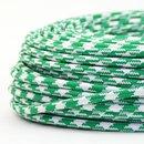 Textilkabel Stoffkabel grün-weiß Hahnenkamm...