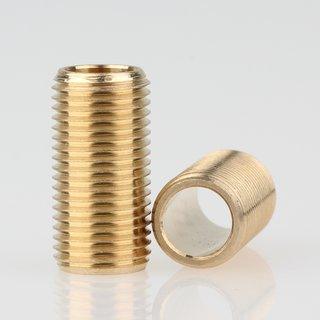 Lampen Gewinderohr Länge 20mm Messing roh M10x1x20
