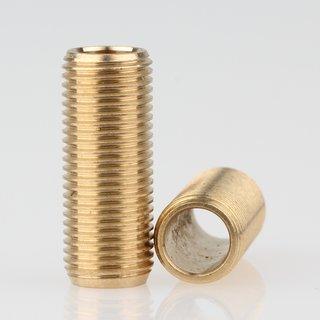 Lampen Gewinderohr Länge 25mm Messing roh M10x1x25