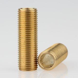 Lampen Gewinderohr Länge 30mm Messing roh M10x1x30