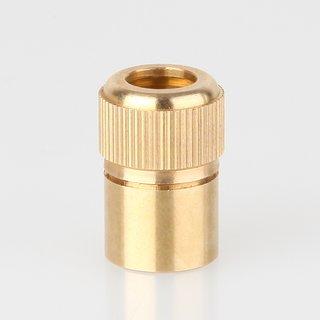 Zugentlaster Metall Messing roh 3-teilig mit M10x1 Innengewinde