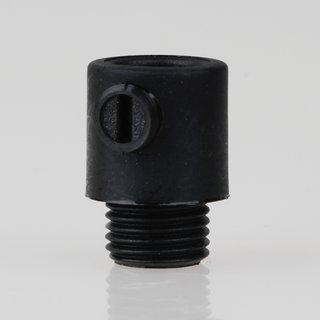 Zugentlaster Kunststoff schwarz mit M10x1x7 Aussengewinde