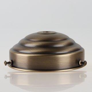 Lampenschirm Glashalter 111x45mm Antik Fume für E14 und E27 Fassung