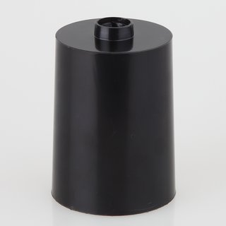 Lampen Leuchten Baldachin 60x85mm Kunststoff schwarz Zylinderform für 10er Rohr