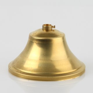 Lampen Baldachin 110x60mm Messing roh mit Stellring für 10er Pendelrohr