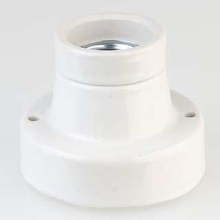 E27 Porzellan Keramik Lampen-Fassung Deckenleuchte gerade
