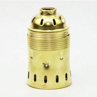 E40 Metall Lampen-Fassung Messing gebeizt passiviert 62x98mm