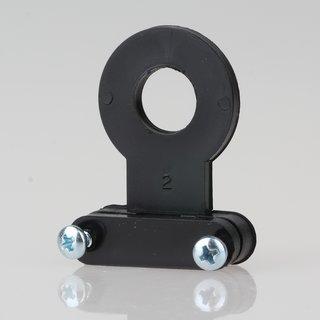 Lampen-Kabelaufhänger Kunststoff schwarz Kabel Zugentlaster für 10er Rohr