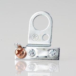 Lampen-Kabelaufhänger Metall verzinkt Kabel Zugentlaster für 10er Rohr mit FE Schelle