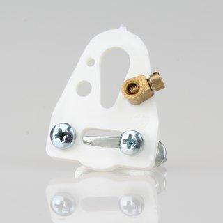 Lampen-Kabelaufhänger weiß Kabel Zugentlastung 24x32 mit Kabelschelle 2 Schrauben 1 Nietbuchse