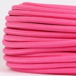 Textilkabel Stoffkabel pink 3-adrig 3x0,75 Gummischlauchleitung 3G 0,75 H03VV-F textilummantelt