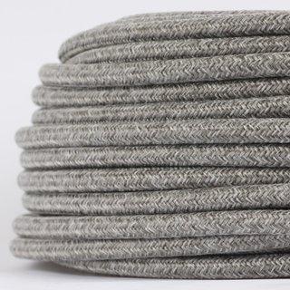 Textilkabel Stoffkabel steingrau 3-adrig 3x0,75 Gummischlauchleitung 3G 0,75 H03VV-F textilummantelt