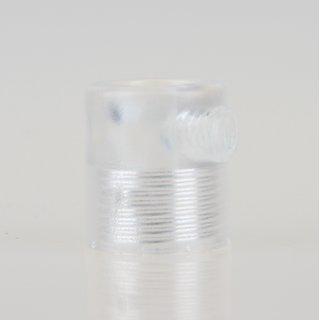 Zugentlaster Kunststoff transparent mit M13x1 Innengewinde